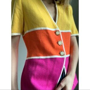 Vintage St. John by Marie Gray color block shirt